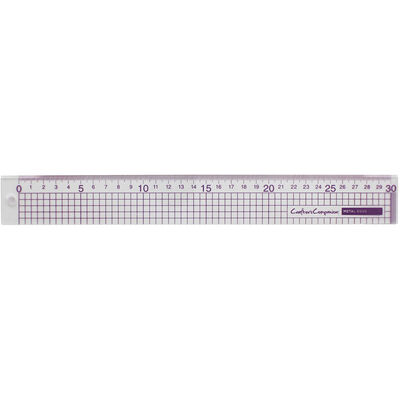 Crafters Companion Metal Edge Acrylic 30cm Ruler image number 2