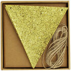 Make Your Own Gold Glitter Bunting image number 1
