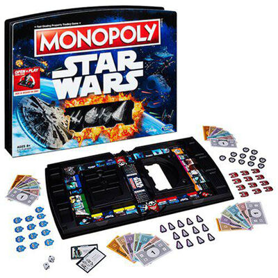 Monopoly Star Wars Open and Play Game Case image number 3