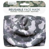 Grey Camo Reusable Face Mask