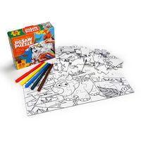 Colour Your Own 49 Piece Jigsaw Puzzle: Dinosaur