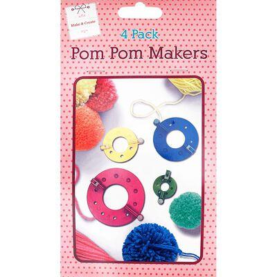 Pom Pom Makers - 4 Pack image number 1