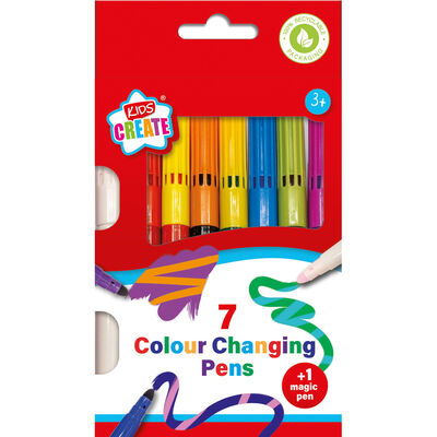Colour Changing Pens Pack Of 7 image number 1