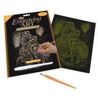 Meercats Engraving Art