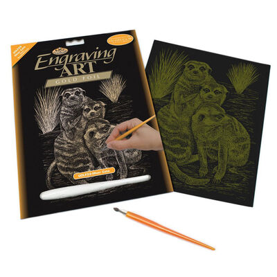 Meercats Engraving Art image number 1