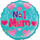 18 Inch No 1 Mum Foil Helium Balloon image number 1