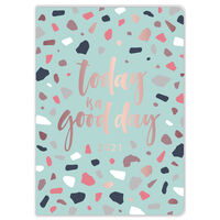 A5 Green Terrazzo 2021 Day a Page Diary