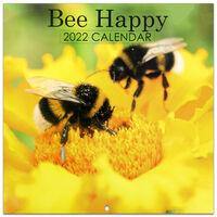 Bee Happy 2022 Square Calendar