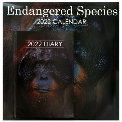 Endangered Species 2022 Square Calendar and Diary Set image number 1