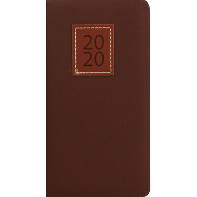 Tan Executive 2020 Slim Pocket Week to View Diary image number 1