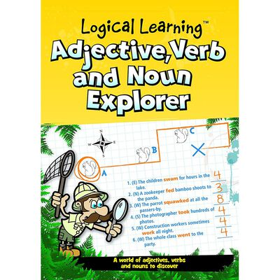 Logical Learning Adjective Verb and Noun Explorer Workbook image number 1