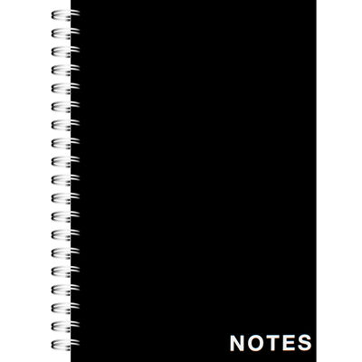 A5 Wiro Plain Black Lined Notebook image number 1
