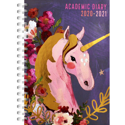 A5 Unicorn Week to View 2020-21 Academic Diary image number 1
