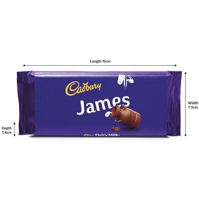 Cadbury Dairy Milk Chocolate Bar 110g - James image number 3