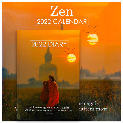 Zen 2022 Square Calendar and Diary Set image number 1