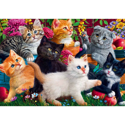Kittens in the Garden 500 Piece Jigsaw Puzzle image number 2
