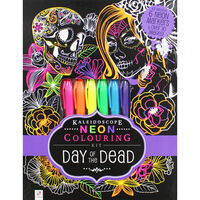 Kaleidoscope Neon Colouring Kit: Day of the Dead