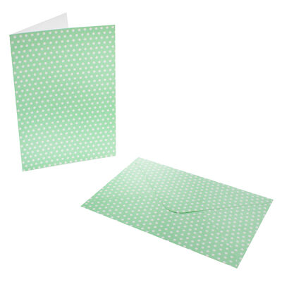 8 Pastel Polka Dot Cards - 5 Inches x 7 Inches image number 3