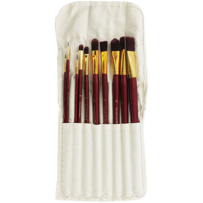 11 Piece Paint Brush and Canvas Bag Set image number 1