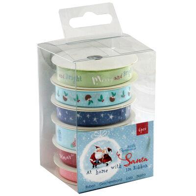 At Home with Santa 1m Ribbons - 6 Pack image number 1