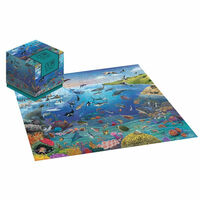 Sea Life 100 Piece Jigsaw Puzzle Cube
