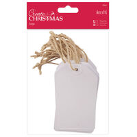White Gift Tags: Pack of 20