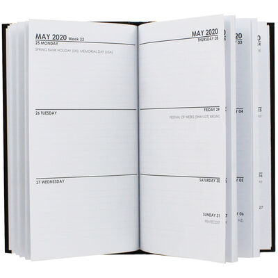 Monday Optional Slim 2020 Pocket Diary - Week To View image number 2