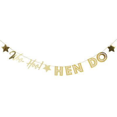 Gold Hen Do Foil Bunting image number 3