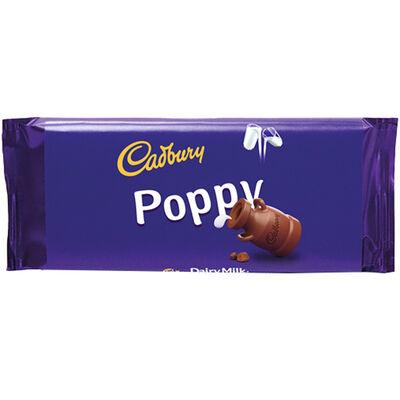 Cadbury Dairy Milk Chocolate Bar 110g - Poppy image number 1