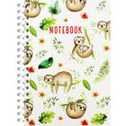 A4 Wiro Sloth Repeat Lined Notebook image number 1