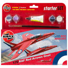 Airfix 1:72 Raf Red Arrows Gnat Starter Set image number 1
