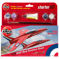 Airfix Raf Red Arrows Gnat 1:72 Scale Model Starter Set