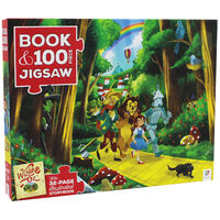 The Wizard of Oz 100 Piece Jigsaw Puzzle and Book Set