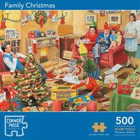 Family Christmas 500 Piece Jigsaw Puzzle