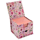 Pink Floral Memo Cube image number 3