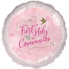 18 Inch Pink First Holy Communion Foil Helium Balloon image number 1