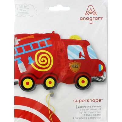 30 Inch Fire Truck Super Shape Helium Balloon image number 2