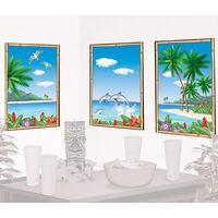 Tropical Paradise View Scene Setter