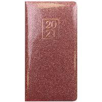 Pink Glitter 2021 Slim Week to View Pocket Diary