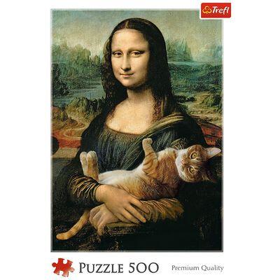 Mona Lisa 500 Piece Jigsaw Puzzle image number 2