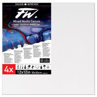 """Mixed Media Canvases 12"""" x 12"""": Pack of 4"""