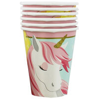 Magical Unicorn Party Paper Cups - 8 Pack