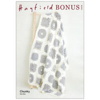 Hayfield Bonus Chunky: Noughts and Crosses Blanket Crochet Pattern 10228