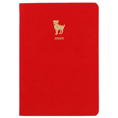 A5 Case Bound PU Zodiac Aries Lined Journal image number 1