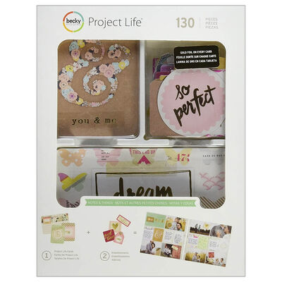 American Crafts: Project Life Notes & Things 130 Piece Journal Kit image number 1