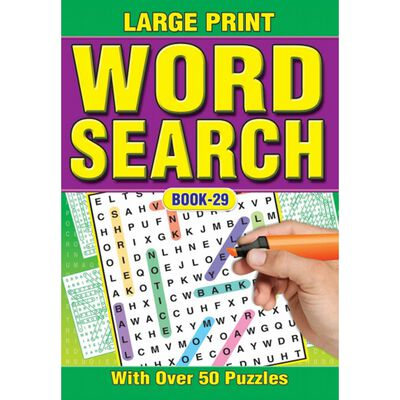 A4 Large Print Wordsearch image number 1