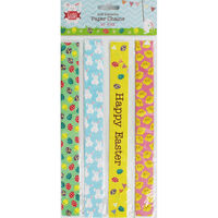 60 Self Adhesive Easter Paper Chains