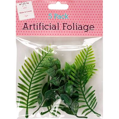 Artificial Foliage Pack of 5 image number 1