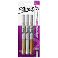 Sharpie Metallic Permanent Marker Pens: Pack of 3