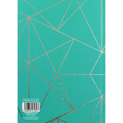 A5 Teal Geometric Day a Page 2020-21 Academic Diary image number 3